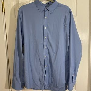 EXPRESS PERFORMANCE X-Slim Blue Button Shirt